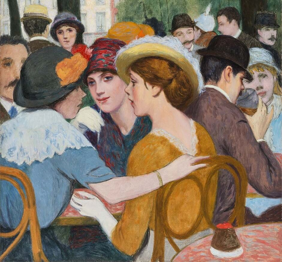 Federico Zandomeneghi - Place Pigalle in Paris - c. 1907.