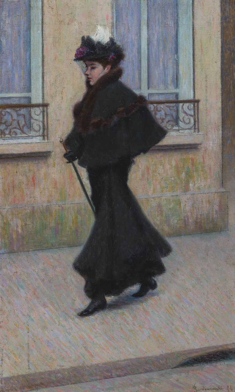 Federico Zandomeneghi. En promenade. La parigina o la passeggiata, 1894