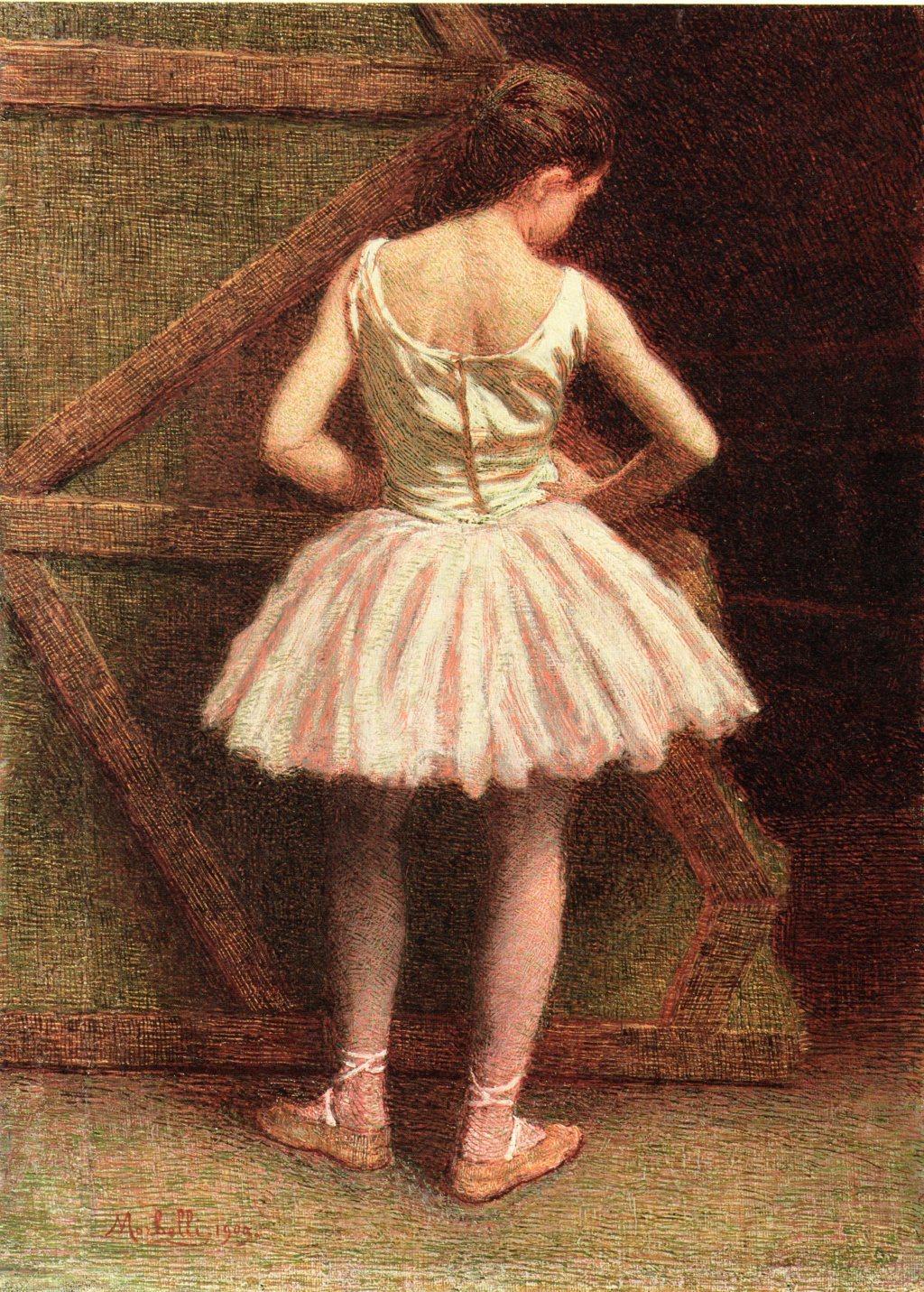 Angelo Morbelli, Ballerina a la Scala, 1909
