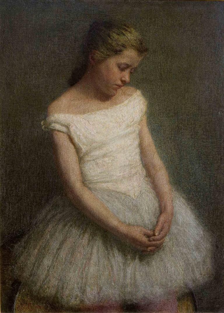 Angelo Morbelli, Ballerina a riposo, 1910. Olio su tela