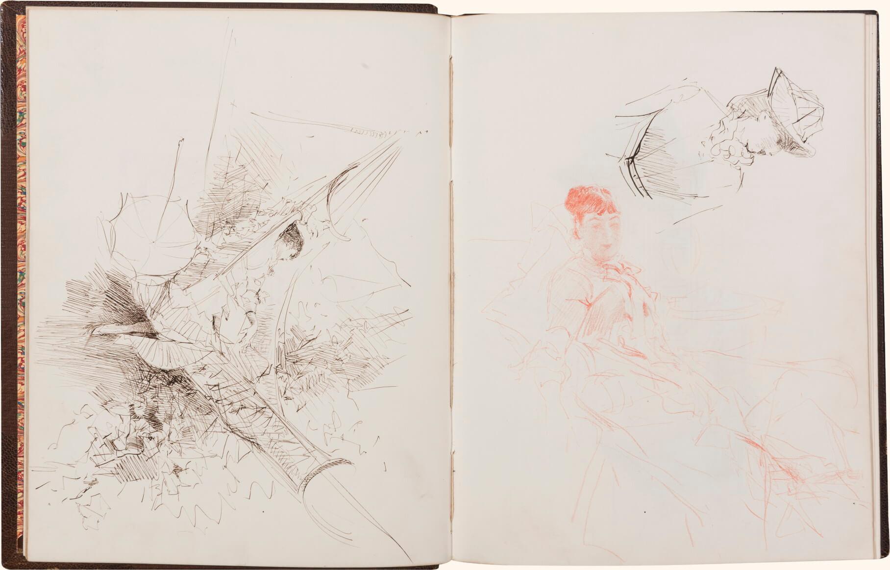 Giovanni Boldini, Volume di disegni