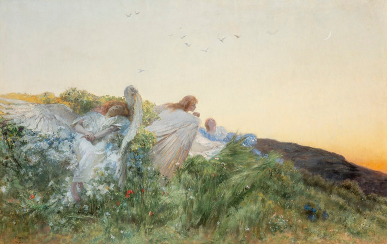 Domenico Morelli, L'amore degli Angeli, 1892