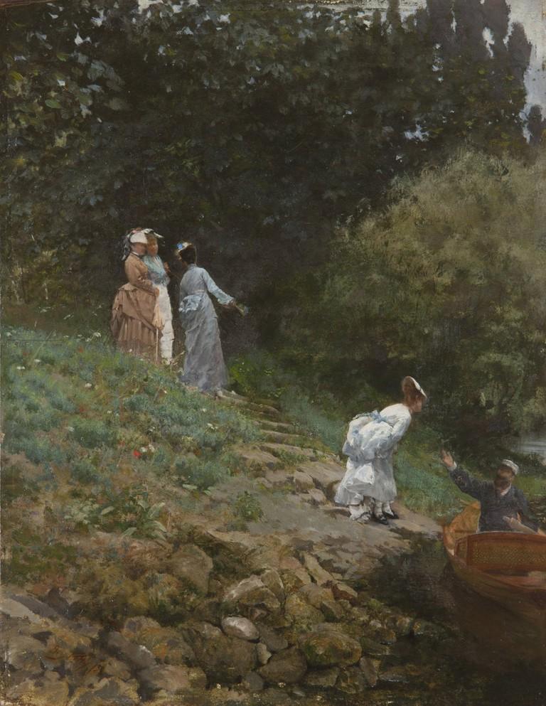 Giuseppe De Nittis, La Grénouillère, 1873, olio su tavola