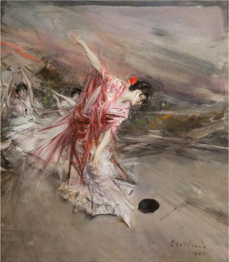 Giovanni Boldini, Danzatrice spagnola, 1900, olio su tavola