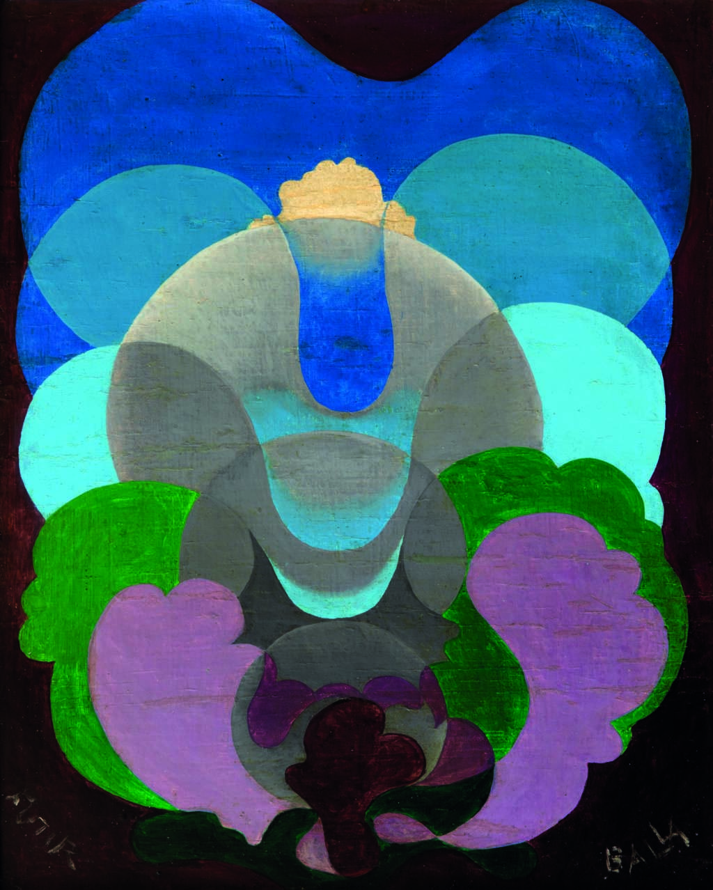 Giacomo Balla, Sorge l'Idea, 1920 circa, olio su tavola