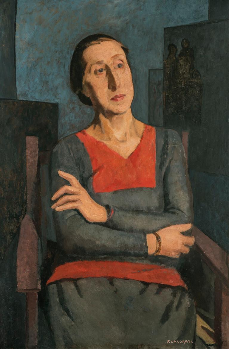 Felice Casorati, Ritratto della Sorella Elvita, 1934