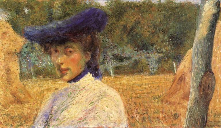 Umberto Boccioni. Particolare di Ritratto di Adriana Fabbri, 1904