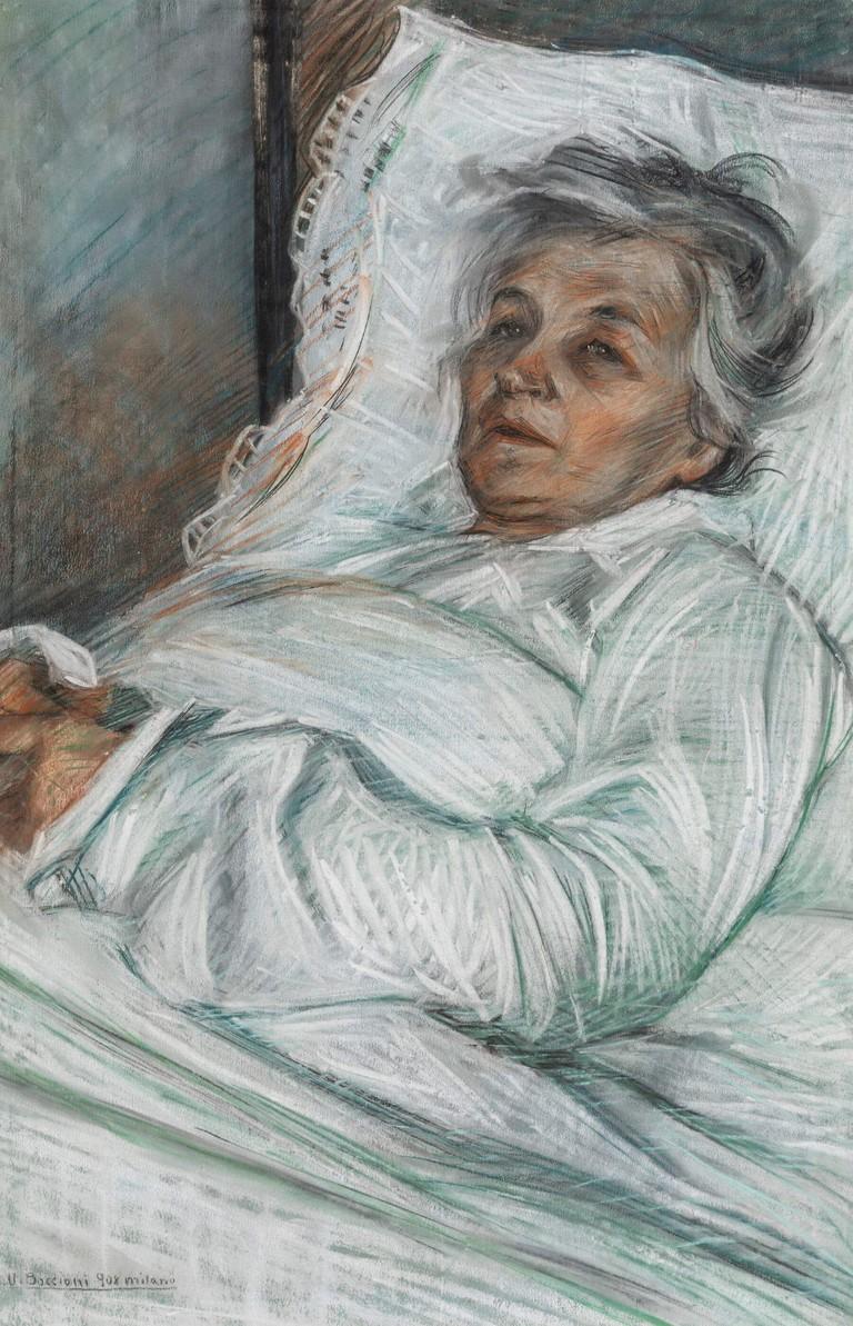 Umberto Boccioni, La madre malata, 1908