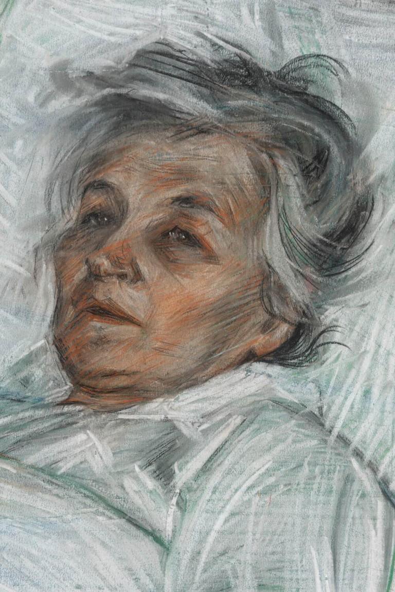 Boccioni La madre malata, 1908, particolare