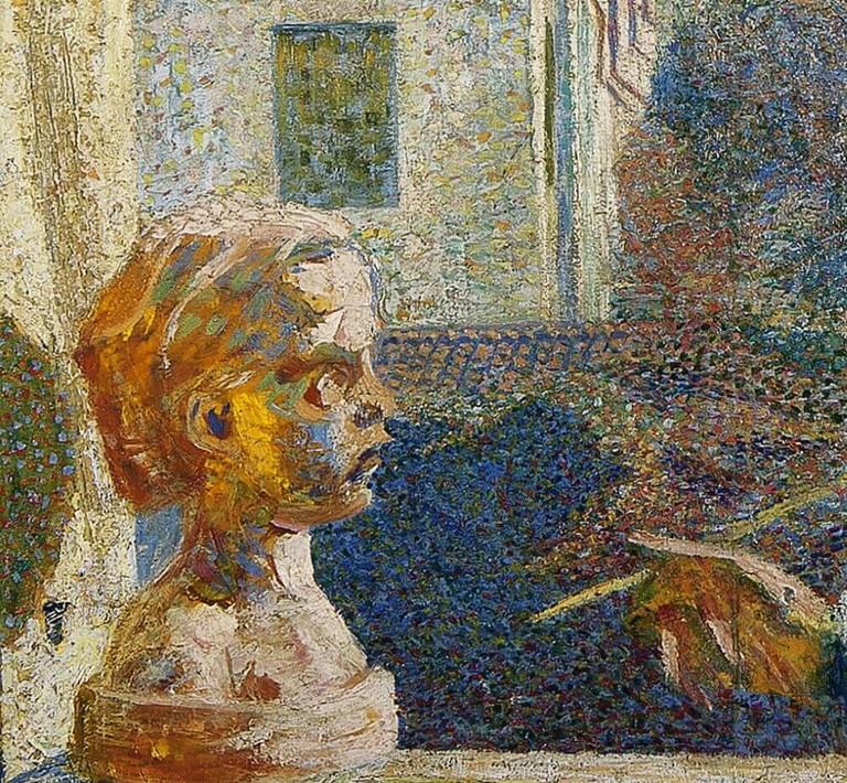 Boccioni Ritratto di Valerio Brocchi particolare
