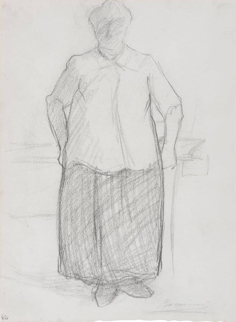 Boccioni, disegno, La madre in piedi