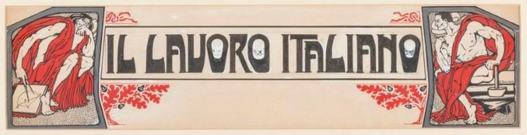 Boccioni, tempera, Il lavoro italiano