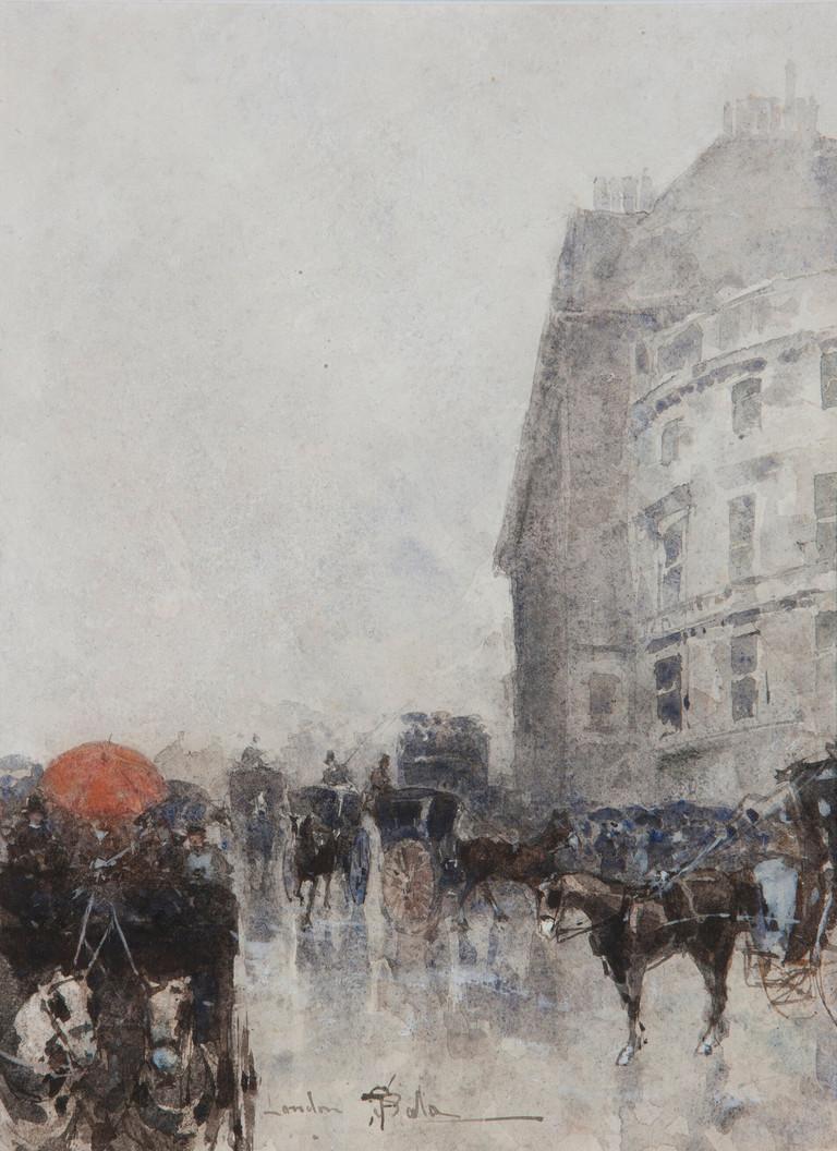 Paolo Sala, Oxford Street, Londra, c. 1885