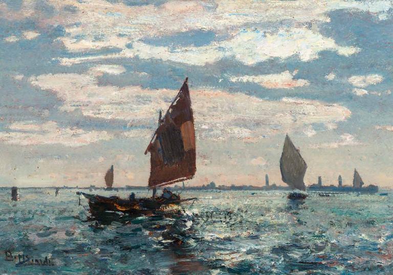 Beppe Ciardi, Murano vista da Venezia, 1900 c.