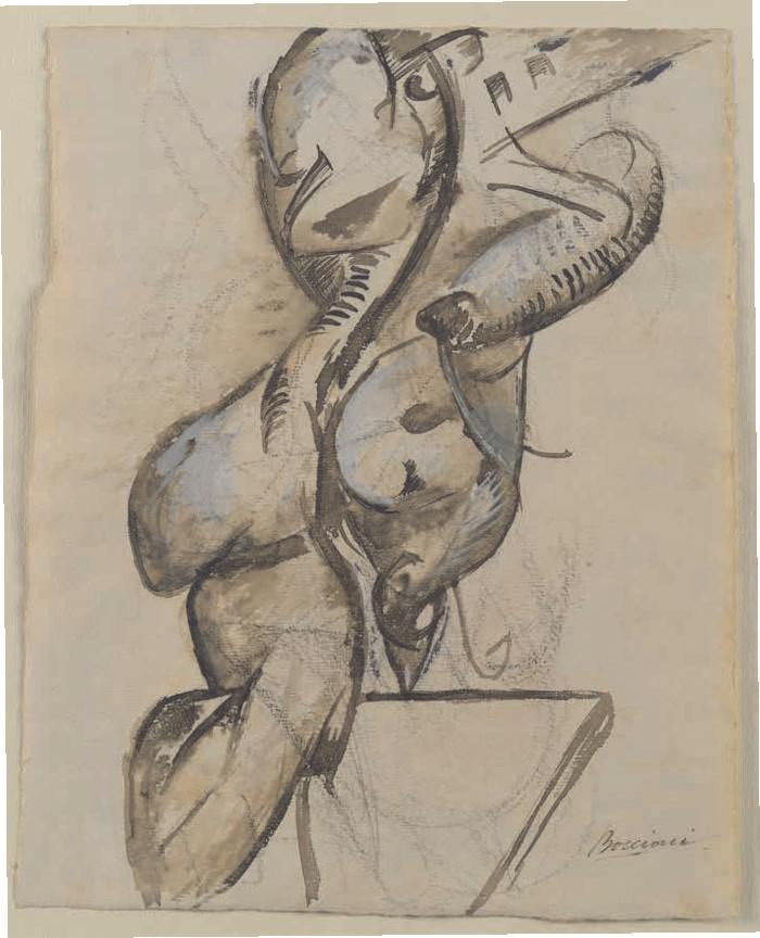 Boccioni, Figure in movement, 1913