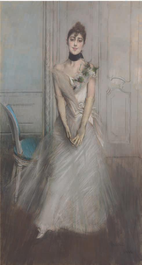 Boldini, The wite pastel, 1888