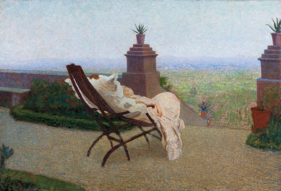 Angelo Morbelli, Riposo alla Colma, 1894-1898
