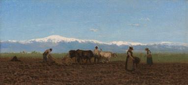 Guglielmo Ciardi, L'aratura (il lavoro nei campi), 1872