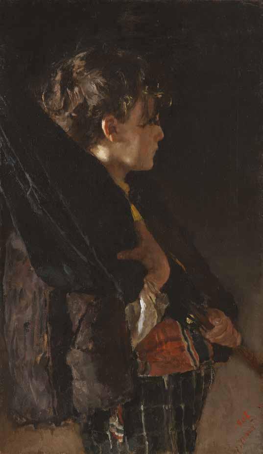 Antonio Mancini, Scugnizzo con ombrello, 1868